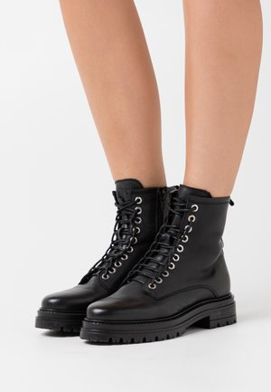 SALLY - Platform ankle boots - black garda