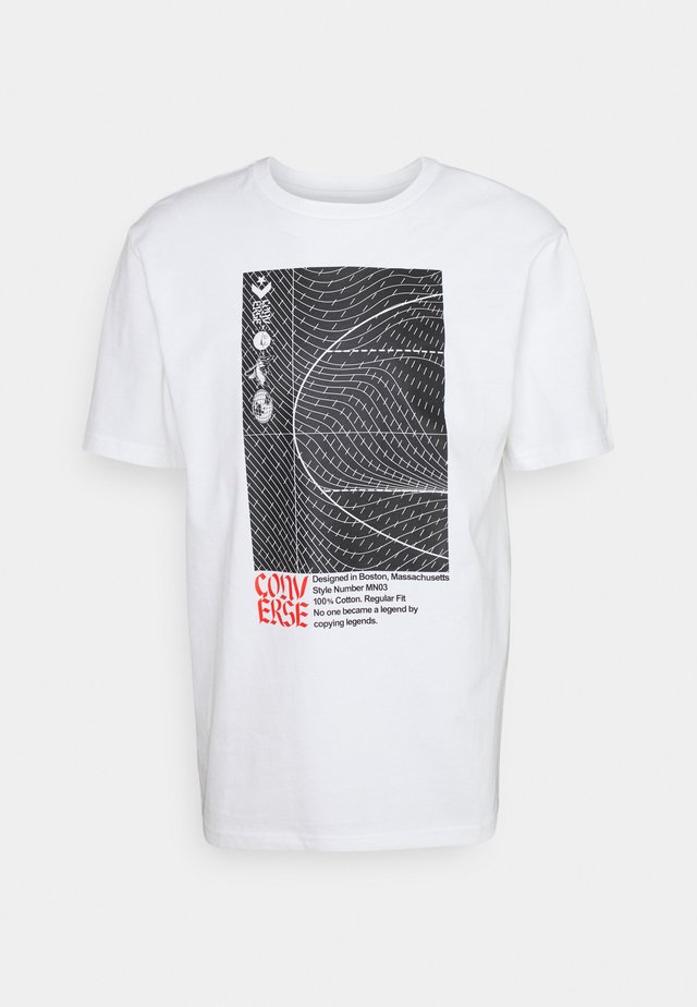 WARPED COURT SHORT SLEEVE TEE - T-shirt con stampa - white