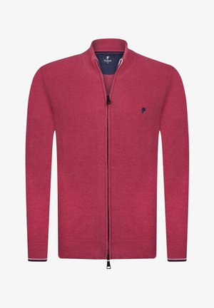 JACOPO - Zip-up sweatshirt - dunkel pink