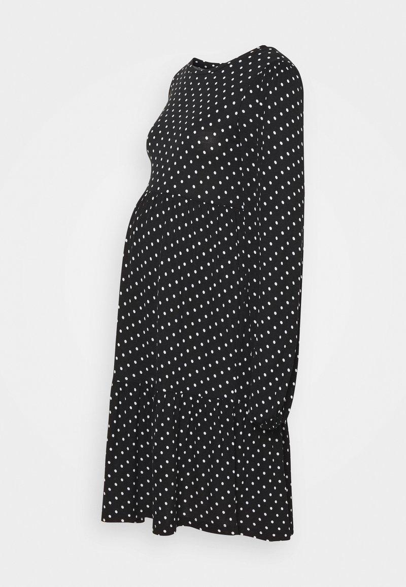 MAMALICIOUS - MLTABITTA DRESS - Jersey dress - black/white