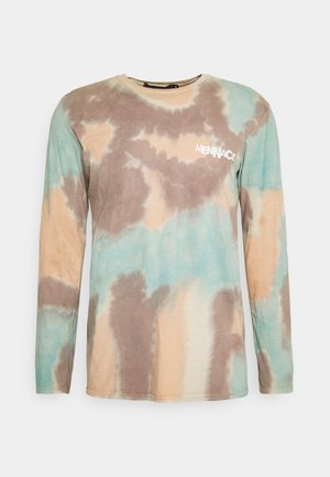 TRY YOUR LUCK TIE DYE - Long sleeved top - light blue