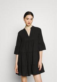Vero Moda - VMHELI 3/4  WVN GA COLOR - Day dress - black - 0