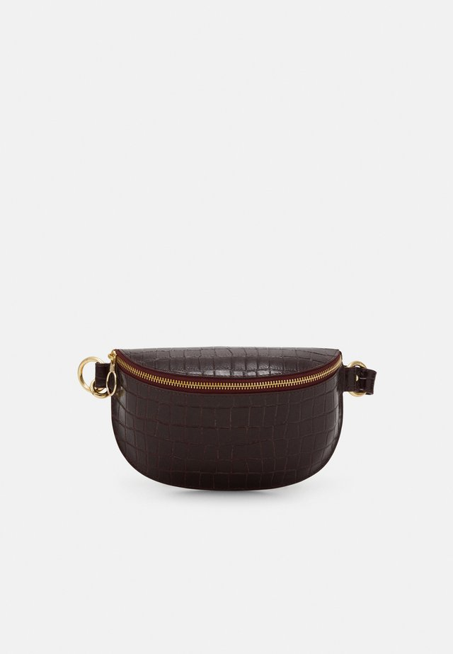 BELT BAG - Ledvinka - plum