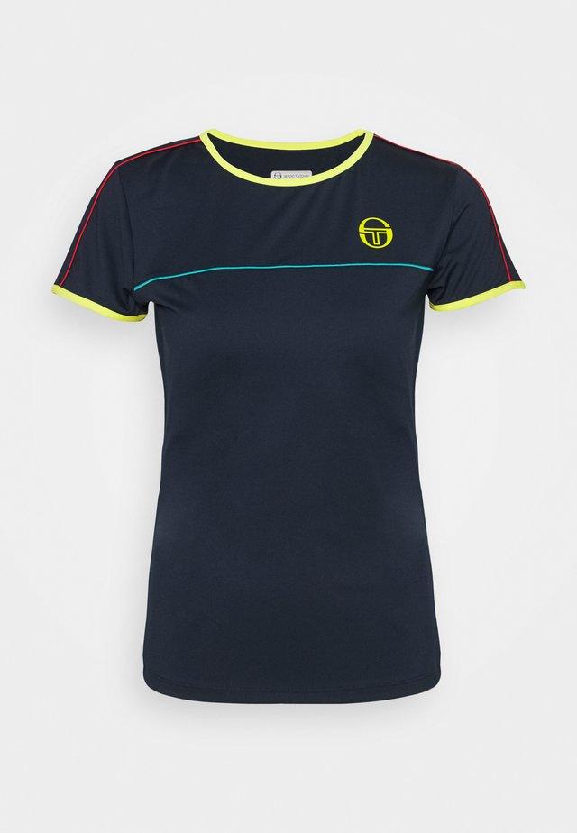 IRIS - Print T-shirt - navy/acidlime