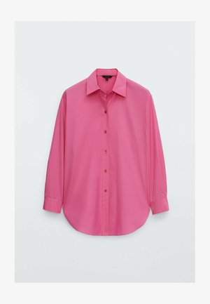Button-down blouse - neon pink