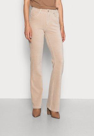 TROUSERS FLAIR - Pantaloni - beige