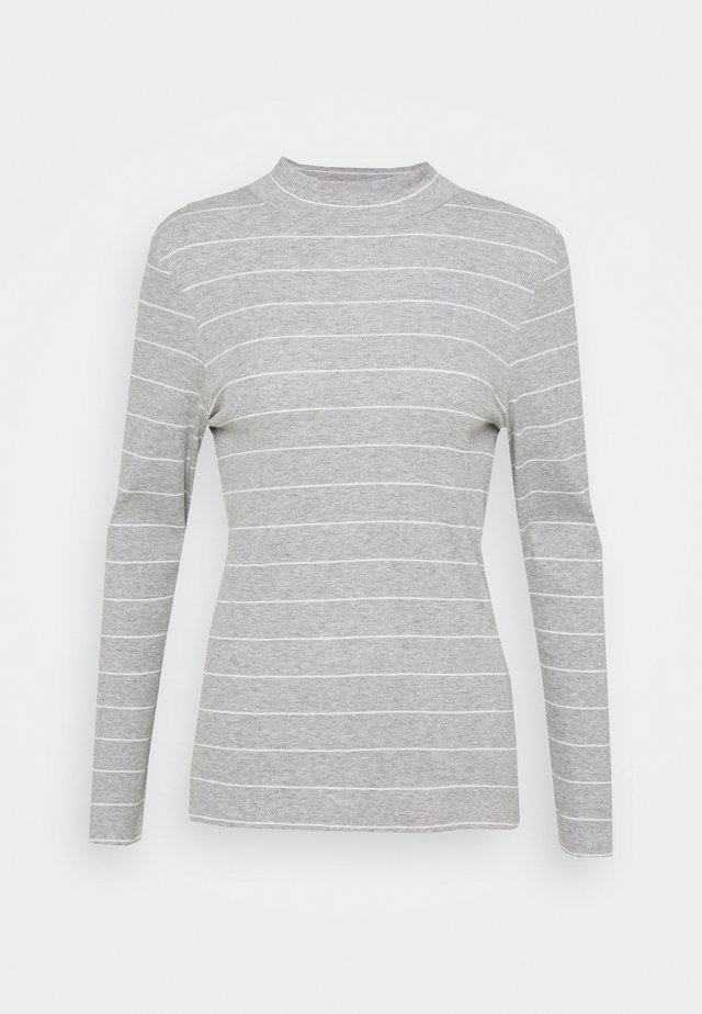 LANGARM - Top sdlouhým rukávem - grey strip