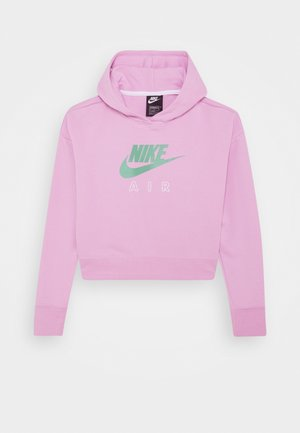 AIR CROP HOODIE - Sweat à capuche - arctic pink/white/healing jade
