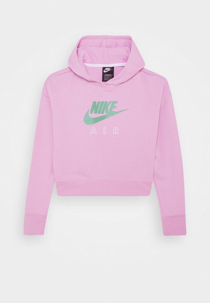 Nike Sportswear - AIR CROP HOODIE - Hoodie - arctic pink/white/healing jade