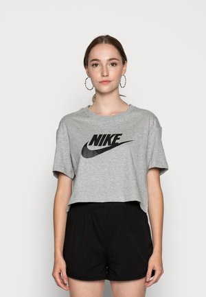 TEE - T-shirts med print - grey heather/black