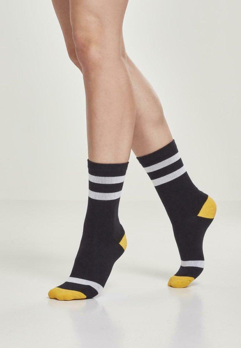 Urban Classics - 2 PACK - Socks - black/white/chromeyellow