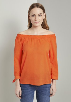 Blouse - strong flame orange