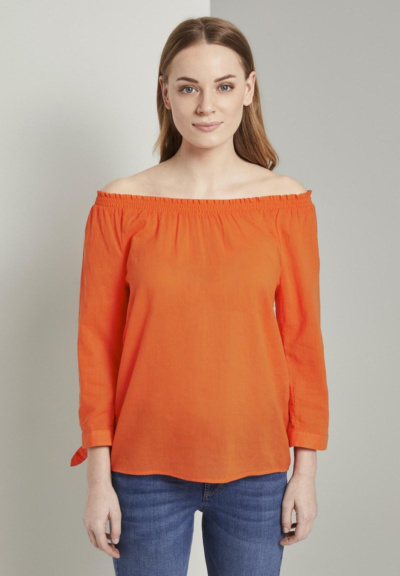 TOM TAILOR - Blouse - strong flame orange