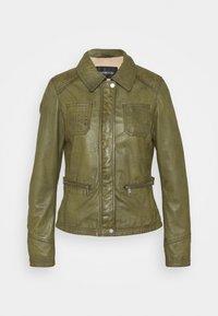 Oakwood - IOTA - Leather jacket - khaki - 4