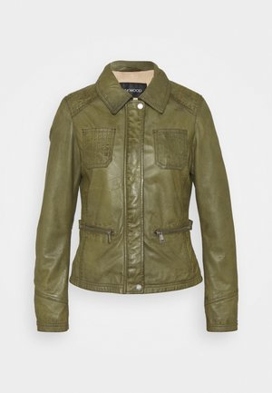 IOTA - Kožená bunda - khaki