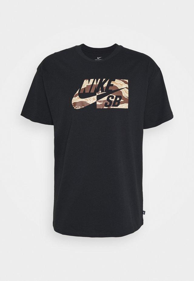 TEE CAMO UNISEX - T-shirt con stampa - black