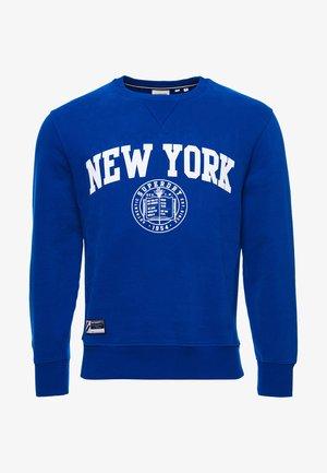 CITY COLLEGE CREW - Sweatshirt - mazarine blue