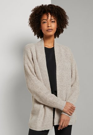 Cardigan - light warm beige melange