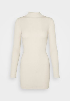 HIGH NECK MINI DRESS - Jumper dress - sand