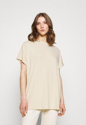 Print T-shirt - dark offwhite/beige
