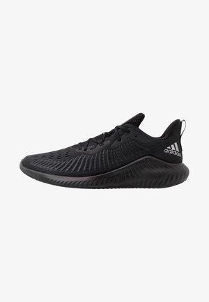 ALPHABOUNCE+ - Neutral running shoes - core black/tech silver metallic/grey six