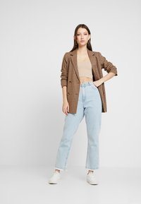 BDG Urban Outfitters - GLITTER STRAPPY BACK CAMI - Top - nude - 1