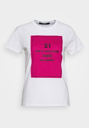 SQUARE ADDRESS LOGO - Print T-shirt - white