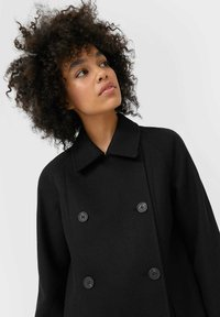 Stradivarius - Short coat - black - 3