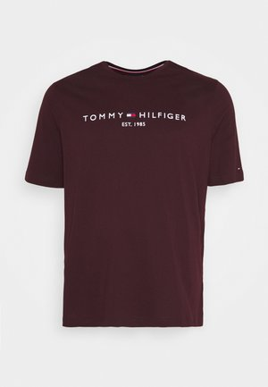 TOMMY LOGO TEE - Print T-shirt - red