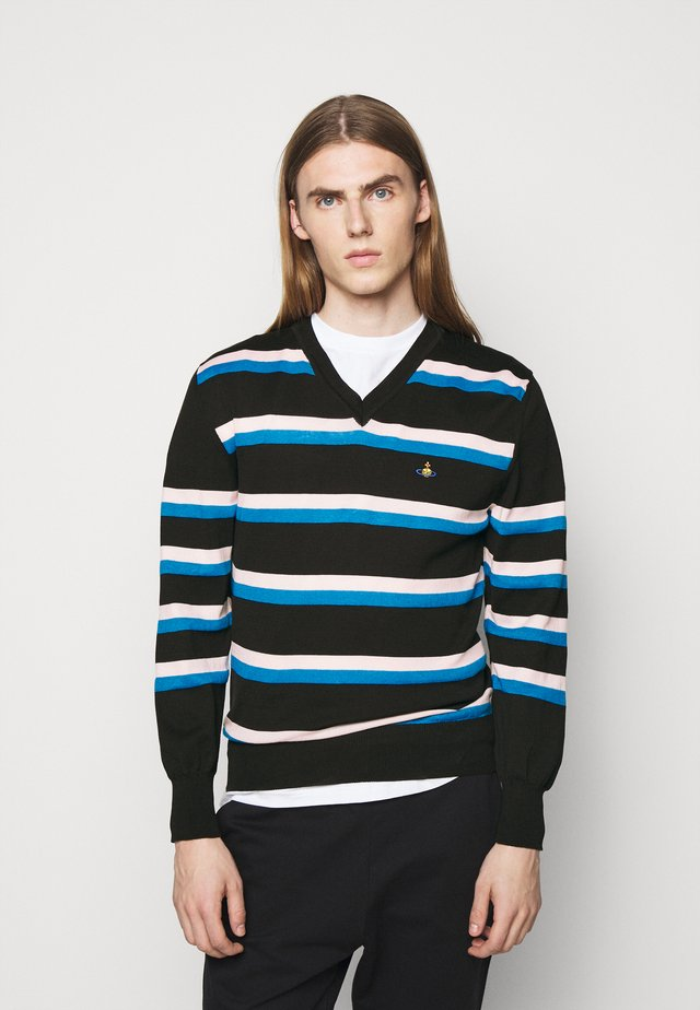 PEDRO JUMPER - Pullover - black/pink