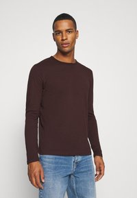 Burton Menswear London - LONG SLEEVE CREW 2 PACK - Long sleeved top - bordeaux - 3