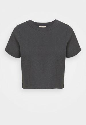 BELLA CROP TEE - T-shirt basic - coal