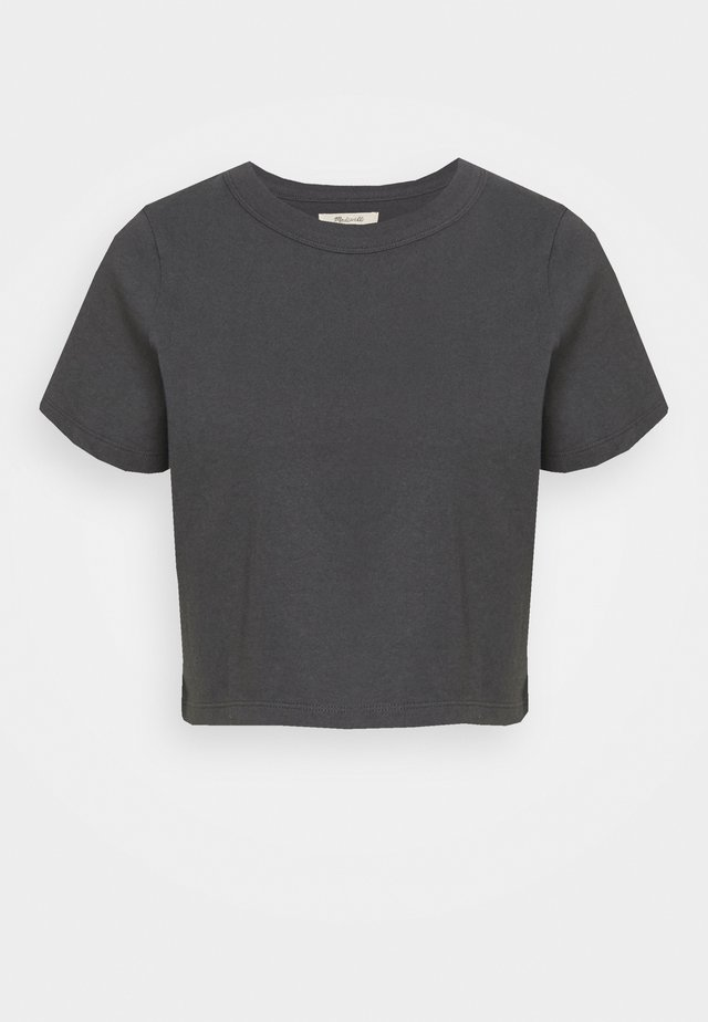 BELLA CROP TEE - Basic T-shirt - coal
