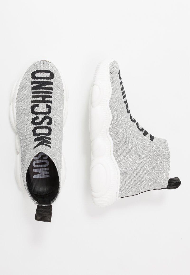 MOSCHINO - Vysoké tenisky - light grey