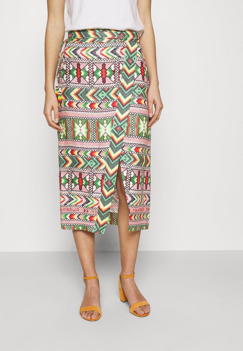 Farm Rio - AMULET WRAP SKIRT - Wrap skirt - multi