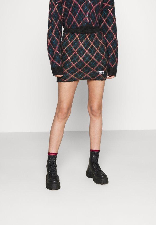 BUMPS SKIRT - Mini skirt - black
