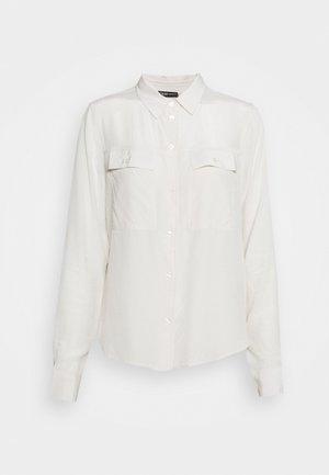 MONA - Button-down blouse - ivory bone
