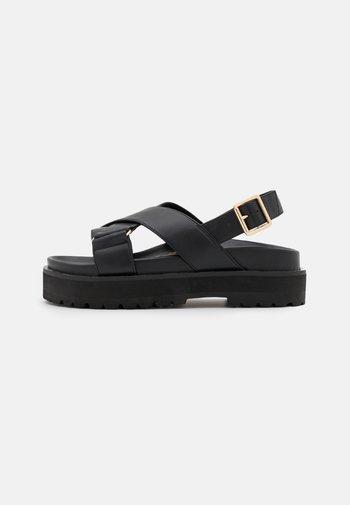 VEGAN ROMY - Platform sandals - black