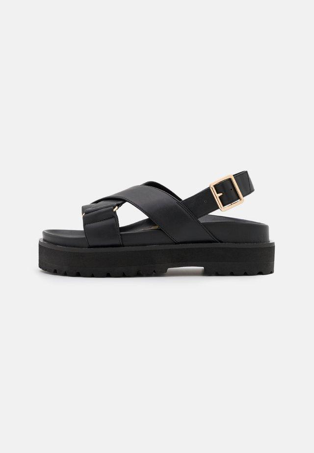 VEGAN ROMY - Sandalen met plateauzool - black