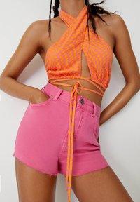 PULL&BEAR - Denim shorts - pink - 4