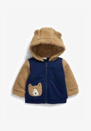 BORG BEAR  - Zip-up sweatshirt - blue