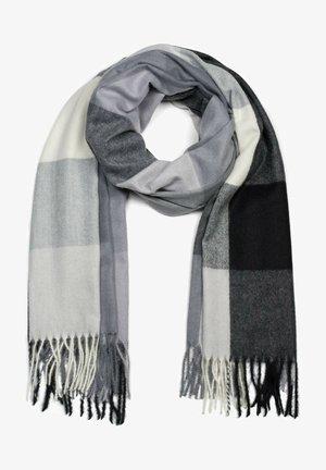 MIT LANGEN FRANSEN, KARIE - Scarf - grau schwarz weiß