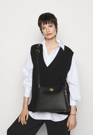 POLISHED PEBBLE WILLOW SHOULDER BAG - Kabelka - black