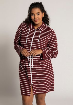 Dressing gown - bordeaux red stripe