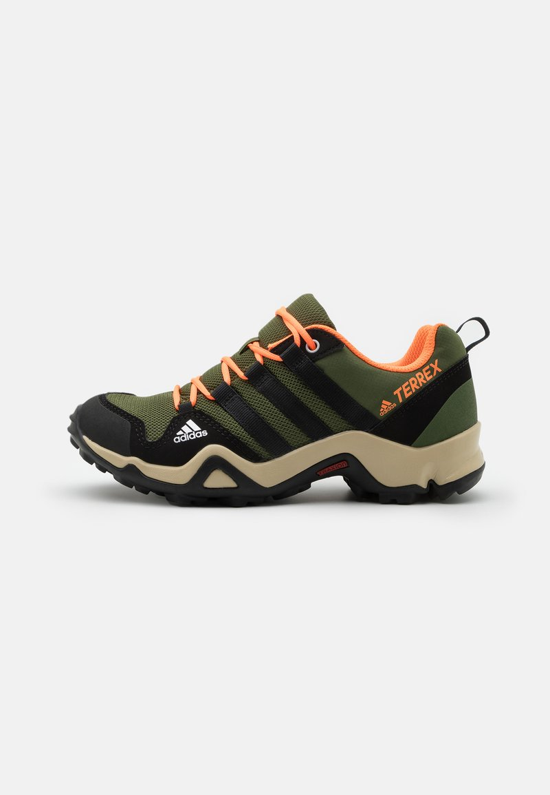 adidas Performance - TERREX AX2R - Hiking shoes - wild pine/core black/screaming orange
