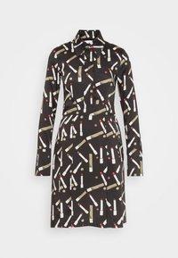 Victoria Victoria Beckham - PLEATED SHIRT DRESS - Shirt dress - black/multi - 6