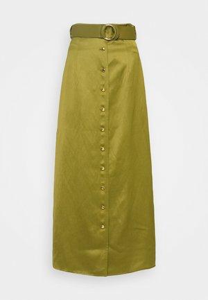 CLASSIC SKIRT - Maxi skirt - khaki