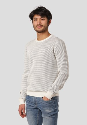 EDMUND - Stickad tröja - off white