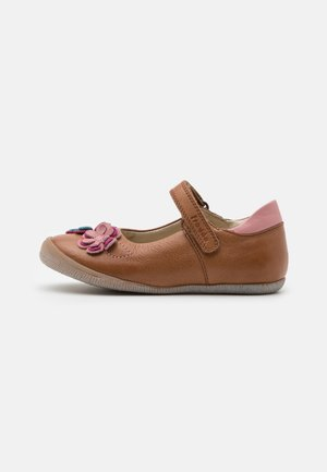 ANA - Ankle strap ballet pumps - brown