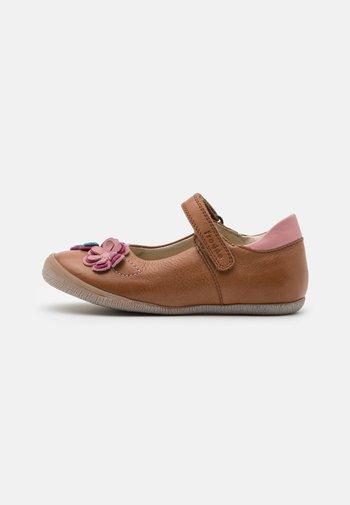 ANA - Ankle strap ballet pumps - brown